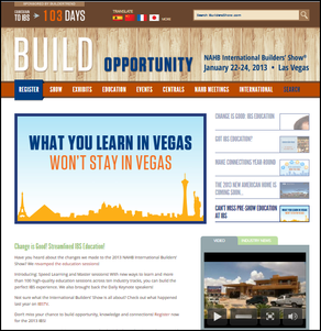2013 NAHB Builders' Show Home Page