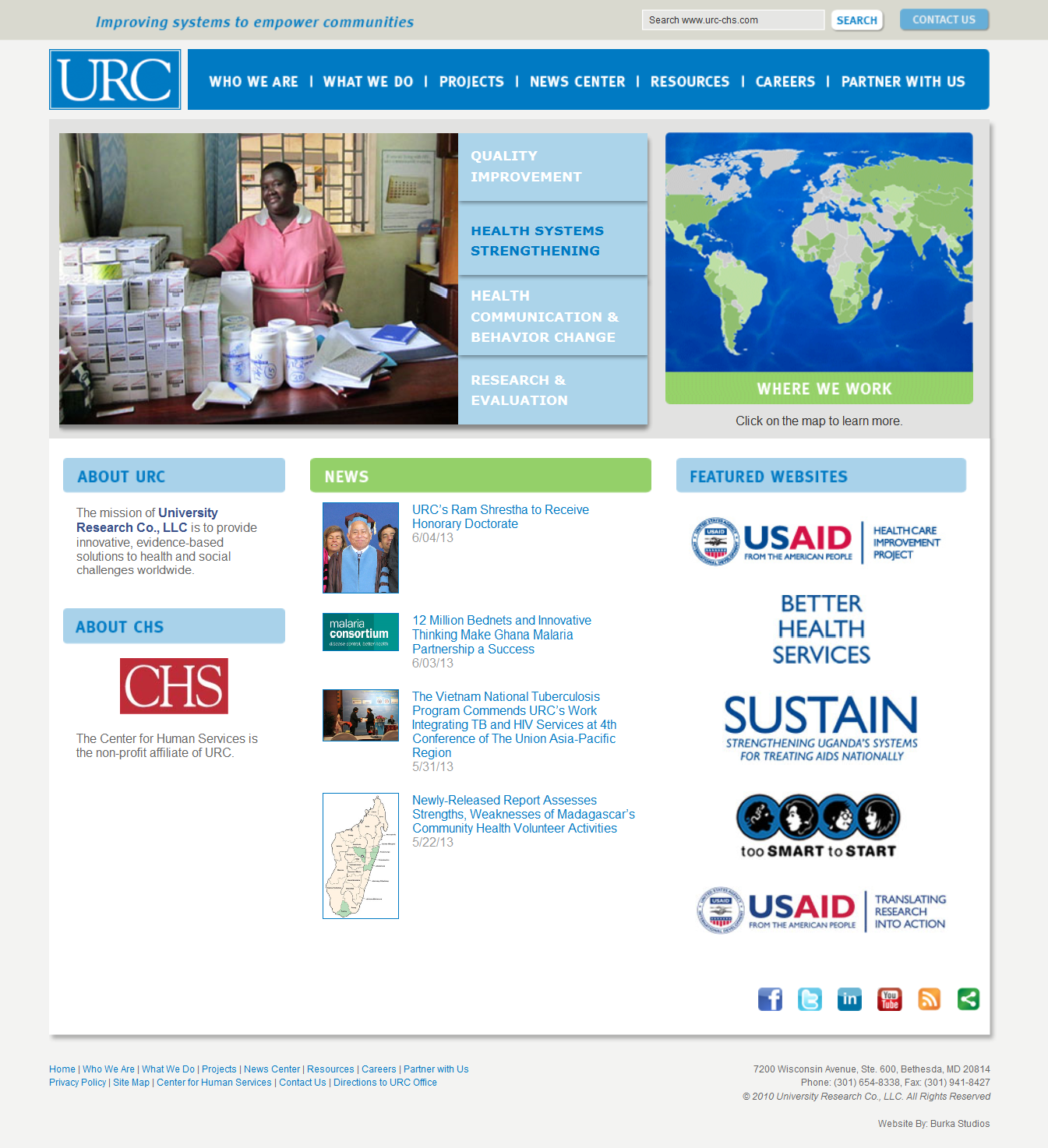 University Research Co. Website Design