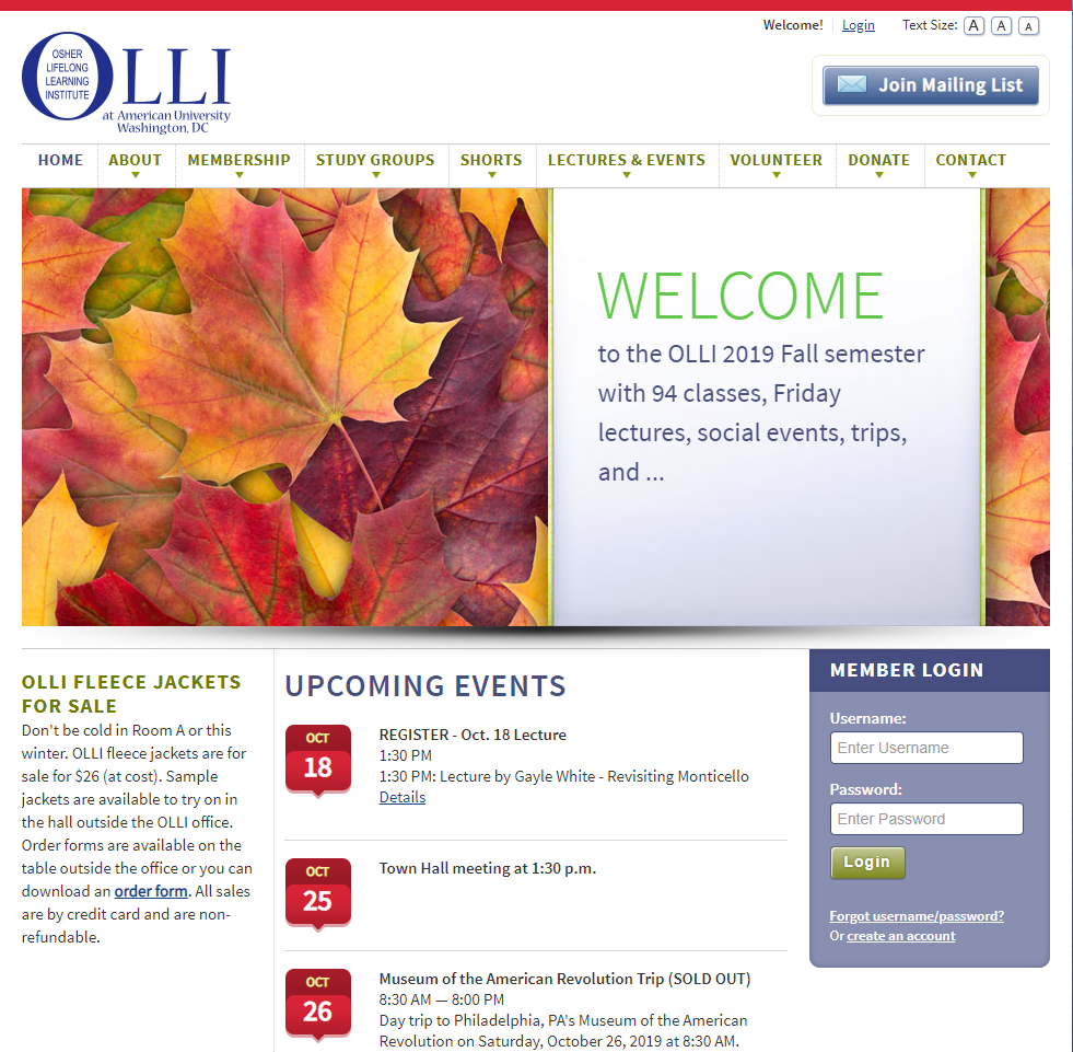 OLLI Home Page