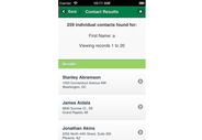 CropLife America Mobile App contact search results